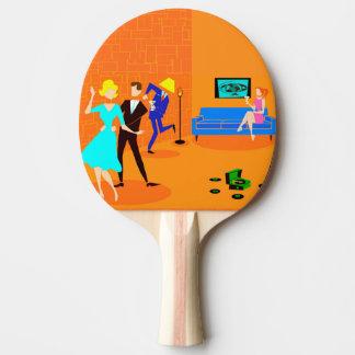 Retro Cartoon-Cocktail-PartyPing Pong Paddel Tischtennis Schläger
