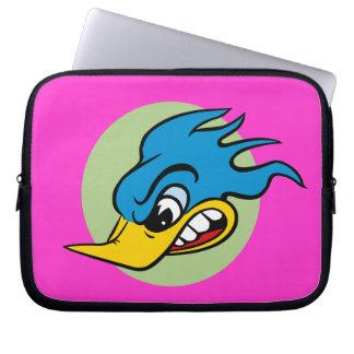 Retro Cartoon-Vogel Laptopschutzhülle