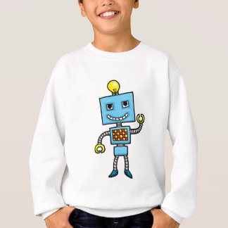 Retro Cartoonblauroboter Sweatshirt