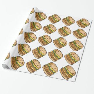 Retro Cheeseburger Geschenkpapier