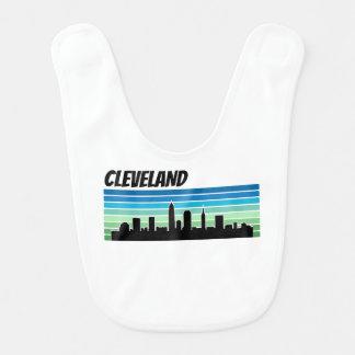 Retro Cleveland-Skyline Babylätzchen