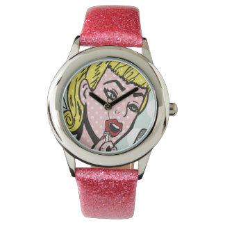 Retro Comic-Buch-Süsse-Uhr Handuhr