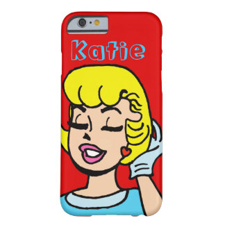 Retro Comic-Streifen-Schönheit iPhone 6 Fall Barely There iPhone 6 Hülle