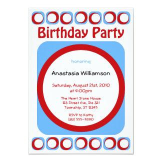 Retro coole Geburtstags-Party Einladungen