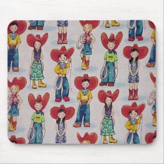 Retro Cowboy-u. Cowgirls-Western-Kinder Mousepad