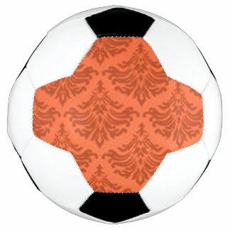 Retro Damast-Brokat-Mandarine-Orange Fußball