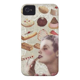 Retro Dame Paris des Bäckereikuchen-Gebäcks Case-Mate iPhone 4 Hüllen