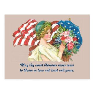 Retro Damenfreiheits-Postkartenkunst Postkarte