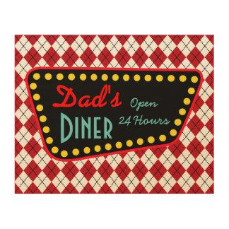 Retro das Restaurant-Zeichen-Kunst-Küchen-Geschenk Holzwanddeko