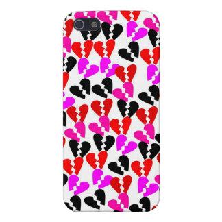 Retro defekte Herzen iPhone 5 Etui