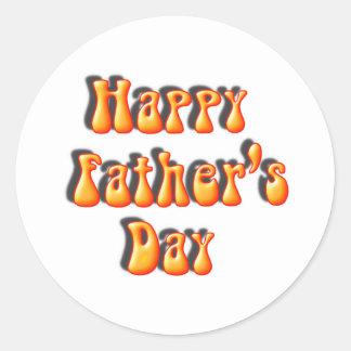 Retro der Vatertags-Text Runder Aufkleber