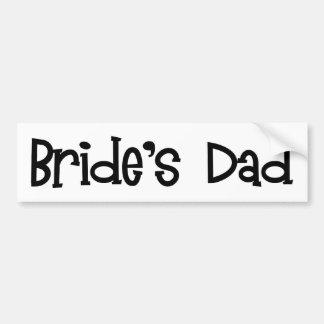 Retro der Vati-Autoaufkleber der Braut