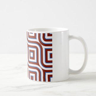 Retro design lines and squares tasse