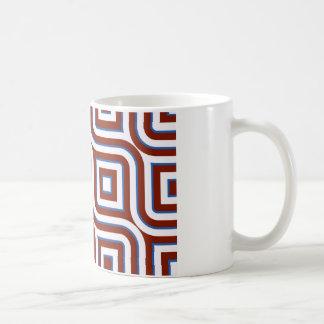 Retro design lines and squares tasse