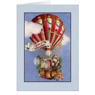 Retro Deutscher Frohe Weihnachten Weihnachtskarte Karte