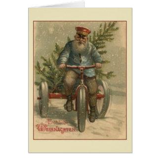 Retro Deutscher Fröhliche Weihnachten Karte