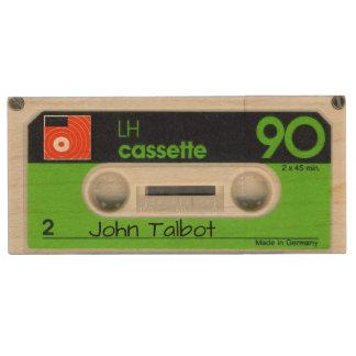 Retro deutsches Tonband personalisierter USB Holz USB Stick