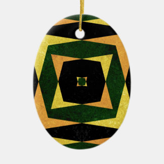 Retro Diamant formt Muster Keramik Ornament