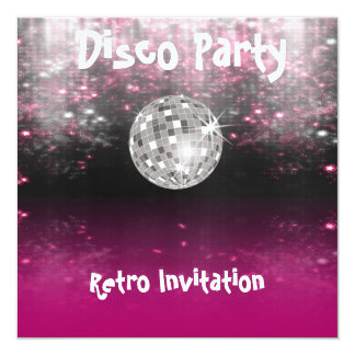 Retro Disco-Party Einladung