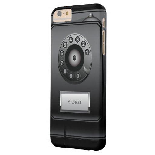 Retro Drehskala-Wand-Telefon Barely There iPhone 6 Plus Hülle