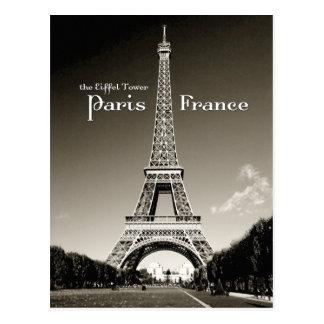 Retro Eiffelturm Postkarte