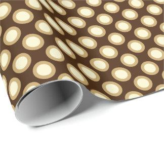 Retro eingekreiste Punkte, Schokolade, Creme und Geschenkpapier