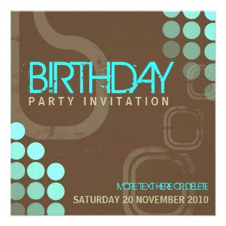 Retro Electro-Party-Geburtstags-Einladung
