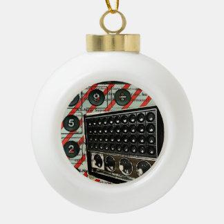 Retro Elektronik-Lautsprecher kurzer Wellen-Radio Keramik Kugel-Ornament