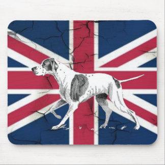 Retro englischer Zeigerhund der britischen Mousepad