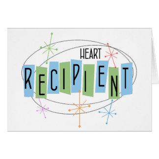 Retro Entwurf Herz-Transplantations-Empfänger Mitteilungskarte