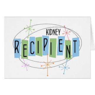 Retro Entwurf Nieren-Transplantations-Empfänger Mitteilungskarte