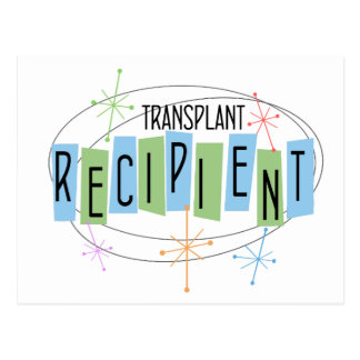 Retro Entwurf Transplantations-Empfänger Postkarte