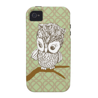 Retro Eule iPhone 4/4S Fall iPhone 4/4S Case