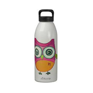 Retro Eule Wasserflasche