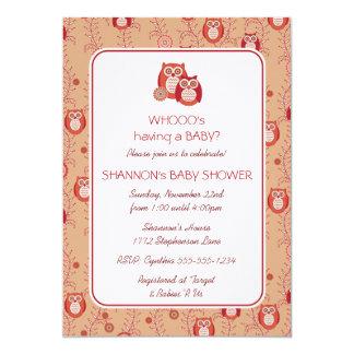 Retro Eulen-Babyparty-Einladung 12,7 X 17,8 Cm Einladungskarte