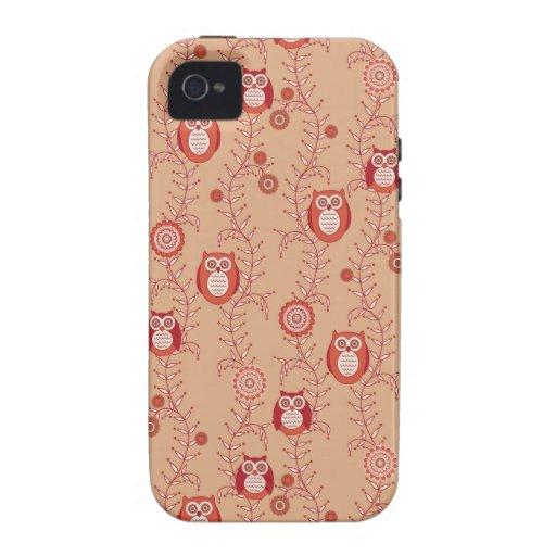 Retro Eulen iPhone 4 Case-Mate stark