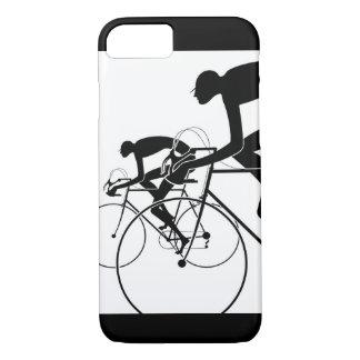Retro Fahrrad-Silhouetten 2 1986 iPhone 8/7 Hülle