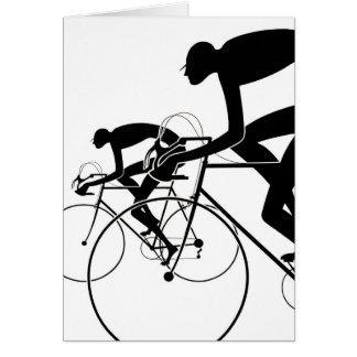 Retro Fahrrad-Silhouetten 2 1986 Karte