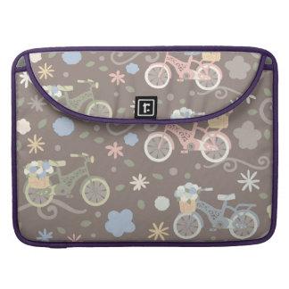 Retro Fahrrad und Blumen Sleeve Für MacBooks