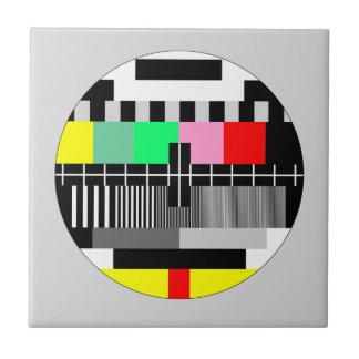 Retro Farbfernsehtestschirm Keramikfliese