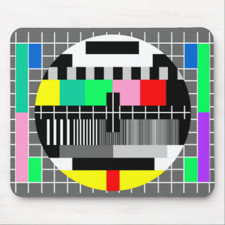 Retro Farbfernsehtestschirm Mousepad