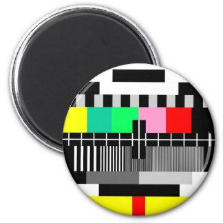 Retro Farbfernsehtestschirm Runder Magnet 5,1 Cm