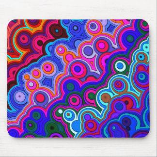 Retro Farbkreis-Spaß-Entwurf Mousepads
