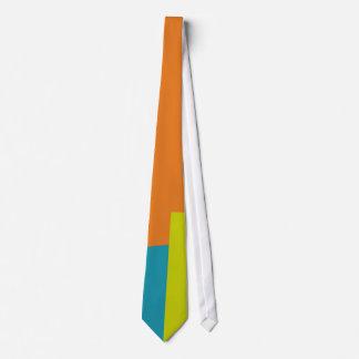 Retro Farbmodernes geometrisches Muster Personalisierte Krawatten
