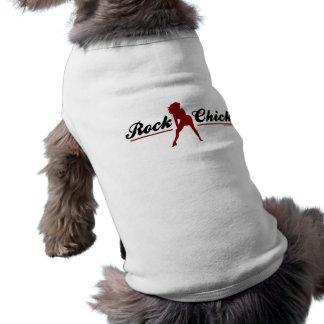 Retro Felsen-Küken Hundbekleidung