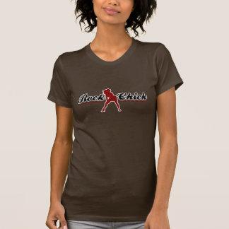 Retro Felsen-Küken T-shirt