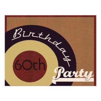 Retro Felsen n Rollengeburtstags-Party Personalisierte Ankündigungskarte