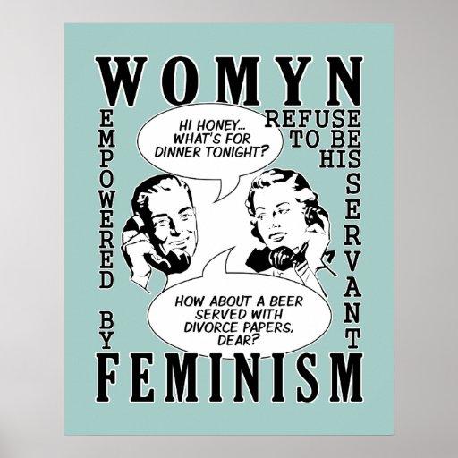 Retro feministisches Spaßplakat Poster