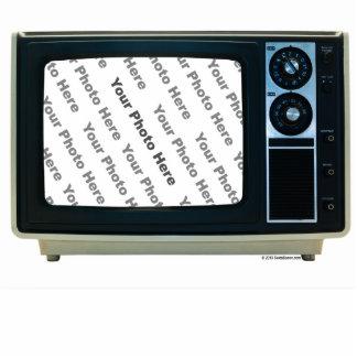 Retro Fernsehgewohnheits-Rahmen Freistehende Fotoskulptur