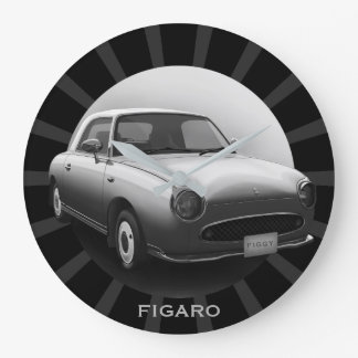 Retro Figaro klassisches Auto-runde Wanduhr